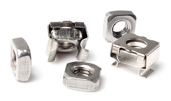 卡式螺母(笼式螺母)M3-M12系列,具有高强度的罗纹紧固作用,用专用工具将其放入预先穿好的方孔或长方形孔中,抽回工具使其固定在金属或其他板材上,安装迅速、便捷,可拆卸重新定位,亦可倾斜定位,是铁路、车辆、电器箱电器柜、模具等行业的首选紧固件,配合皇冠螺钉使用,对机柜面板起到人性化的装饰,专业批量制造,可根据客户要求定制。 卡式螺母具体配置如下:(客户可以根据不同需要选购) 1:外壳65MN镀锌 螺母镀锌: 2:外壳不锈钢 螺母镀锌:  3:外壳不锈钢 螺母不锈钢